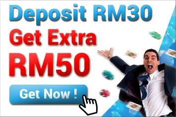 4Dresult Deposit RM30 Free RM50