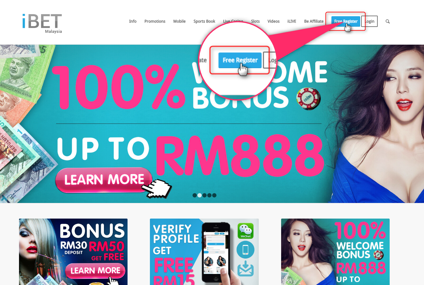 iBET teach you get free RM5 by verifying phone number