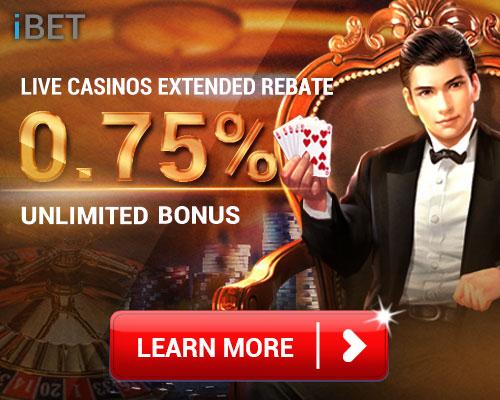 Live Casino Rebate 0.75% Bonus By iBET 4D Result   4DResult